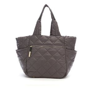 TUTILO Charcoal Gray Lux Laptop/Tablet Tote NWT